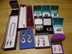 Jewellery, solid silver jewellery, variety, all marked 925