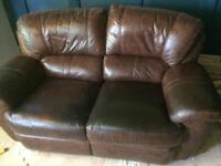 Leather sofa and chair FREE
