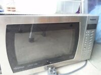 Panasonic 1000 watt microwave brushed silver
