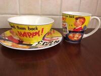Vintage style breakfast set