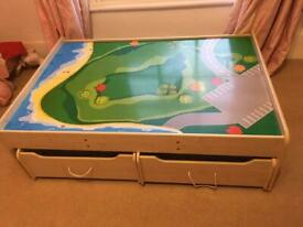 Play Table with storage drawers - Toy cars, Lego etc
