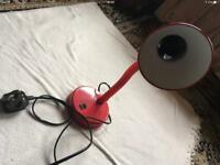 Wilko table lamp red electric good working £4