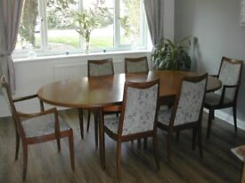 Extending Dining Table With Six Chairs