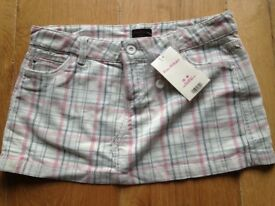 New Checked Cord Mini Skirt- Miss Selfridge, Size 12