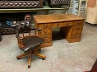 Chesterfield leather captains chair / desk UK DELIVERY