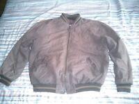Mens nubuck bomber jacket