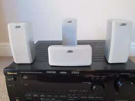 Excellent Condition Sherwood Amplifier RV-6070R Audio/Video Receiver With Speakers & Remote