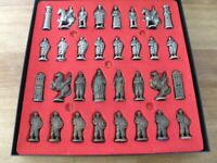 Ornamental Chess set in classic British Battle Dress of old