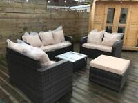 Outdoor conservatory garden set rattan seats, 8 seater sofa set with table - Free delivery