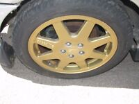 "Subaru Impreza 16"" Speedline Safari Alloy Wheels & Tyres Mcrae Series Rally Car"