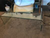 Free glass coffee table