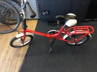 Small folding bike frame, front brake missing