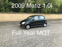 £999 2009 Chevrolet Matiz 1.0l* like corsa clio punto micra yaris fiesta polo ka 207 107, o