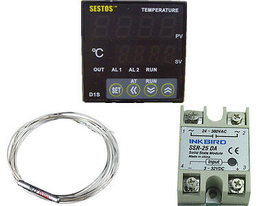 D1s-vr-220 Sestos Digital Pid Temperature Controller 110v 240v 80a 60a Ssr Fan
