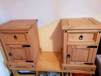 2 Argos Puerto Rico Bedside Chests Light Pine