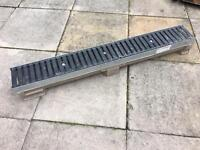 Heavy Duty 1M Concrete and Metal Drainage Channel NEW