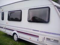 4 Berth Caravan with Red Dorema full awning