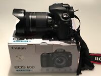 Canon EOS 60D DSLR Camera with 18-135mm Lens + Accessories