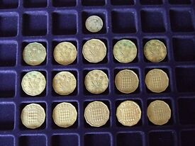 """GB Coins """"Wooden"""" 3d (1 Silver) - Circulated Condition Collection Gap Fillers."""