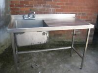 Single bowl sink commercial catering equipment.