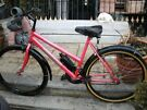 ladies 18 inch frame pink paradise bike with lock