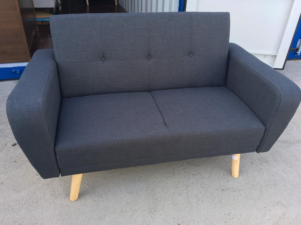 Wayfair Farrow Grey 2 Seater Clic Clac Sofa Bed New Ex Display