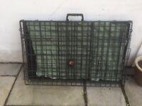 Pet Cage & sheepskin mat