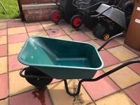 Heavy duty 85L Wheelbarrow Black Green Silver Great condition unused
