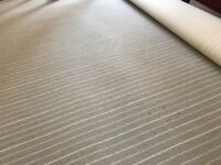 Striped grey carpet square 9 by 11 feet. In excellent condition