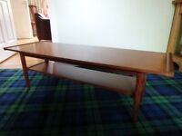 Teak coffee table, 70,s vintage. Useful size
