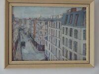 2 x Vintage Framed Maurice Utrillo Parisian Prints
