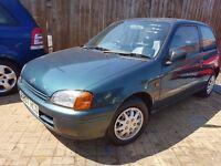 Toyota Starlet 1.3 Sportif 3dr 1997 (R reg), Hatchback