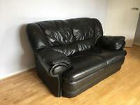 One 3 seater leather and one 2 seater sofa