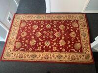Traditional wool rug Wilton 180x120cm & anti slip underlay