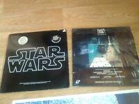 rare star wars laserdisc / original soundtrack LP + poster