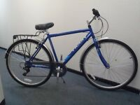 "Raleigh Designed Vermont Hybrid 22"" Framed Bike/pannier/mudguards/comfort seat - RRP £220"