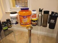 Training supplements + shaker + 2 bottles
