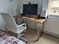 IKEA Desk with brushed metal legs