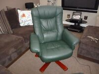 SWIVEL RECLINING CHAIR AND FOOT STOOL