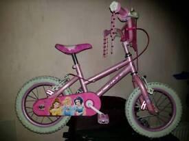 Disney princess girls bike 14 inch