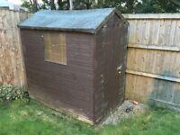 6ft x 4ft shiplap garden shed