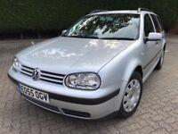 2005 55 Volkswagen Golf 1.9 Tdi 130 Bhp Estate Low Mileage 97k Full Service History Mint Conditon