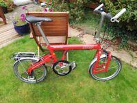 Birdy Red 7 Speed Quality Folding Bike