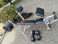 PRO POWER BENCH & BARS & 50KG WEIGHTS