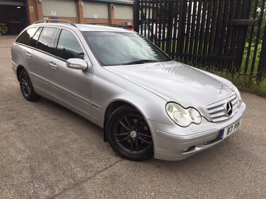 mercedes c220 cdi elegance 2003 auto estate amg private plate leather xenons fsh 2 keys p x. Black Bedroom Furniture Sets. Home Design Ideas