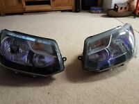 Vw t5.1 headlights and grill . Genuine vw lights and grill.