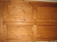 Large Solid Wood Wardrobe with Hanging Space and Drawer Space.