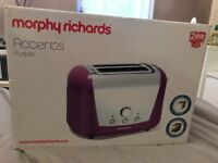 Morphy Richards Purple/Silver Toaster
