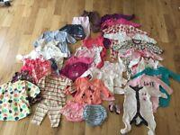 0-3 months baby girl clothes bundle job lot