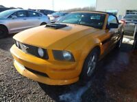 2007 FORD MUSTANG GT/Decapotable/Cuir/SOLD AS IS/VENDU TEL QUEL
